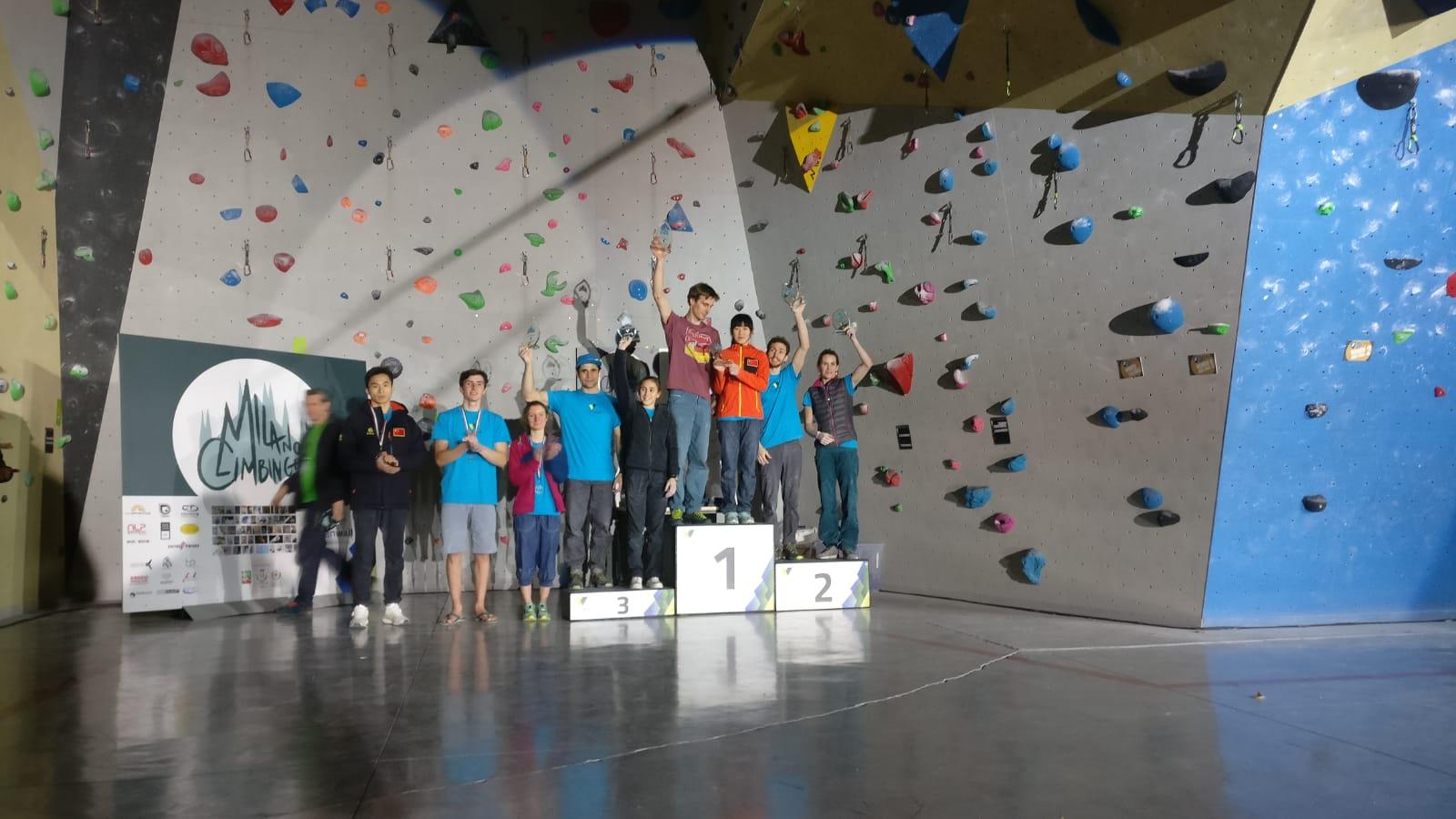 vincitori lead milano climbing expo urban wall